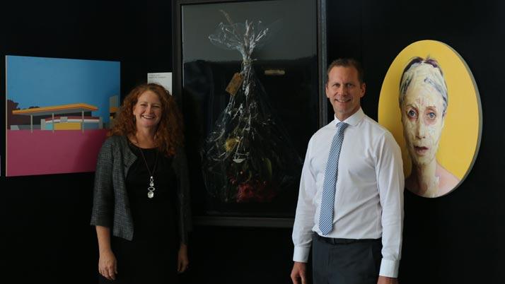 Showcasing prize-winning art at pop-up gallery