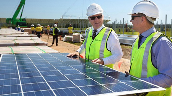 First panels installed on the Sunshine Coast Solar Farm