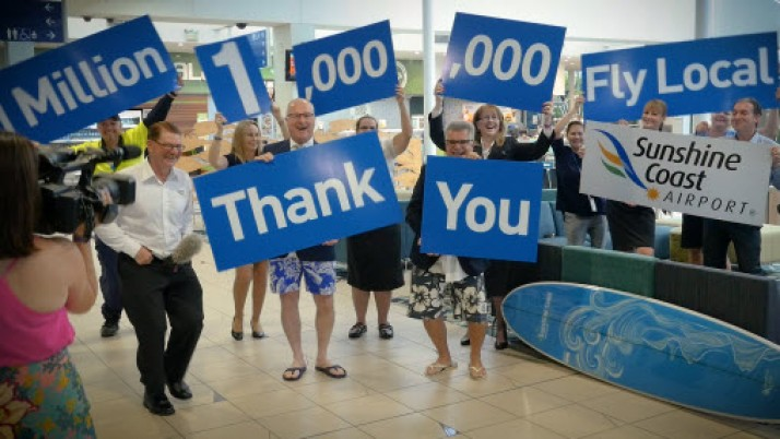 Sunshine Coast Airport celebrates one million passengers