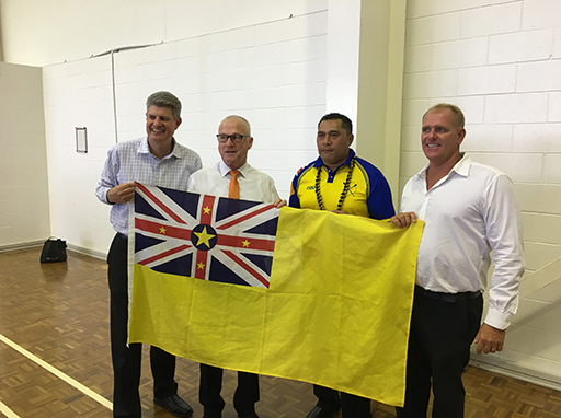 A Niue Commonwealth Games visitor!