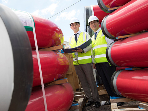 Pipes arrive in Maroochydore for Australian-first automated waste collection system