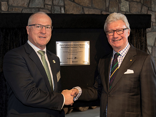 Governor of Queensland opens the new Mary Cairncross Scenic Reserve Rainforest Discovery Centre