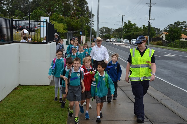 National Walk Safely to School Day gets kids moving rain, hail or shine