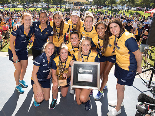 Key to the city awarded to Coast's netball champions