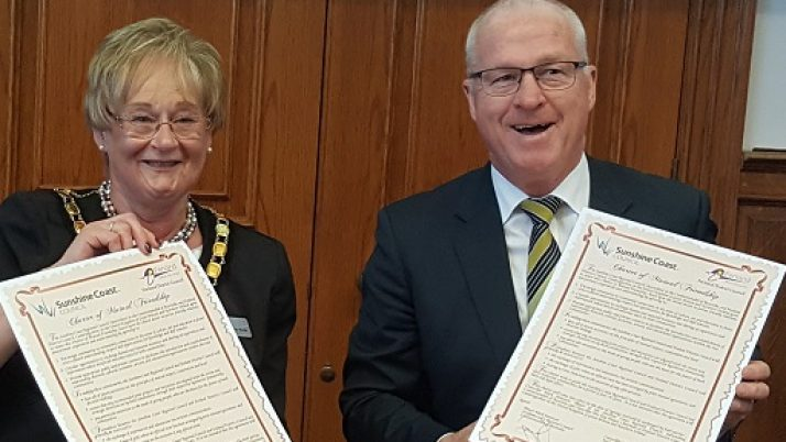 Sunshine Coast, Fenland renew close ties