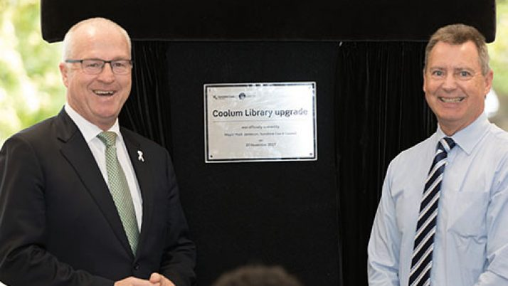 Coolum Library Upgrade delivered in 50th Anniversary of the Naming of the Sunshine Coast