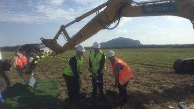 Handover of the Airport Site   Turning of the first Sod