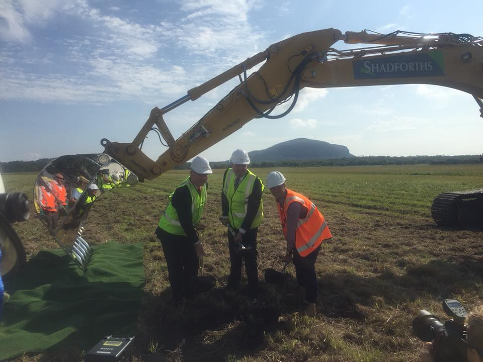 Handover of the Airport Site | Turning of the first Sod