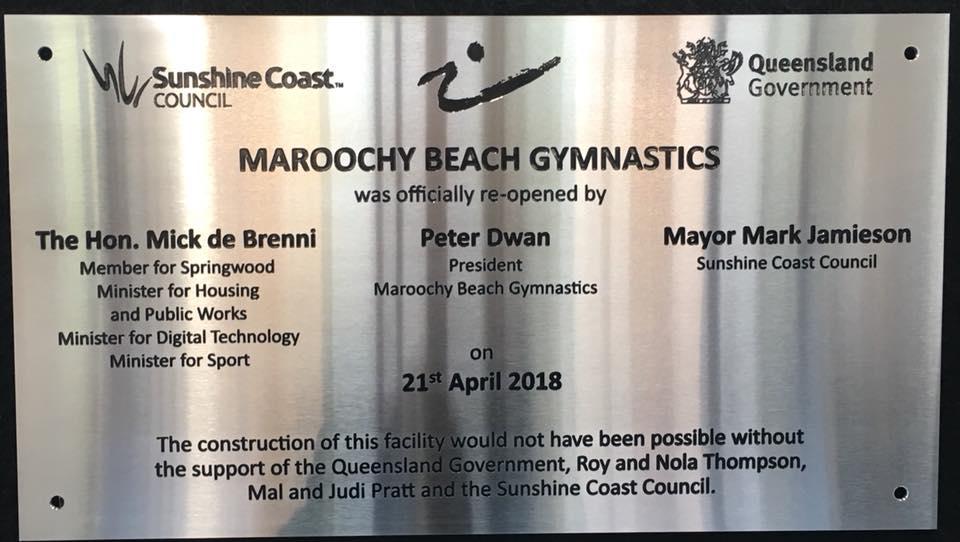 Opening of Maroochy Beach Gymnastics Centre