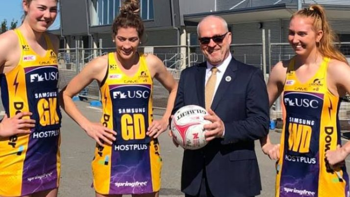 Media Event with Sunshine Coast Lightning for First Game at Redeveloped USC Stadium