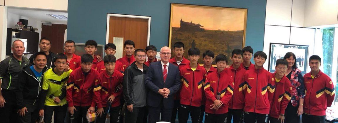 Visit from Xiamen Secondary School Soccer Team