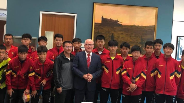 Visit from Xiamen Secondary School Soccer Team