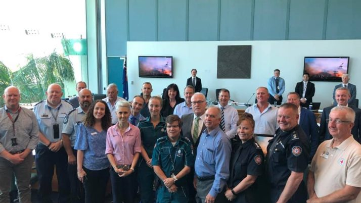 Peregian Fires Staff and Emergency Services Recognition