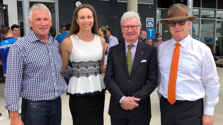 Queensland Governor, the Hon Paul de Jersey and Mrs de Jersey visiting local sport and education facilities